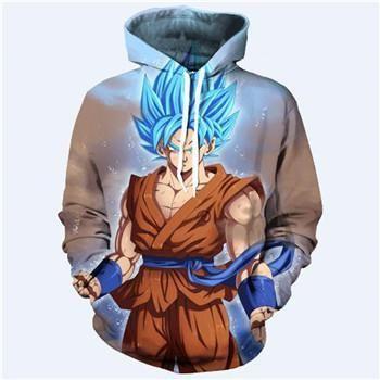 0a0636e69297 5XL Anime Dragon Ball Z DBZ Pocket Hooded Sweatshirts 3D Super Saiyan Hero  Vegeta Hoodies Pullovers Harajuku Men Women Outerwear