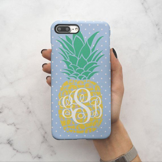 iphone 8 case initials hard