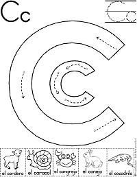 Actividades del alfabeto - Letra C Educación infantil y