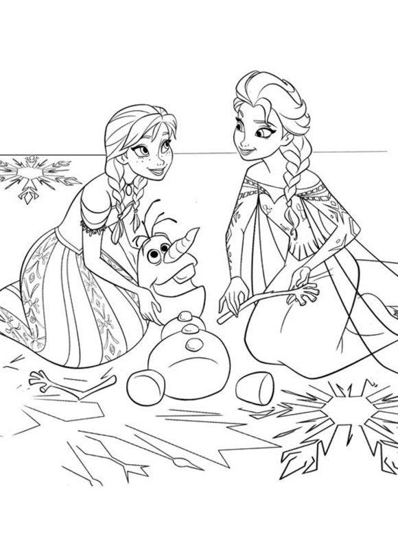 Coloring Page Frozen Sister Coloriage Coloriage Reine Des