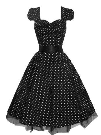 H   R London Princess Small Dots 50-talls Kjole - Midnatt.no - Retro kjoler  og klær på nett 2f068dbc220