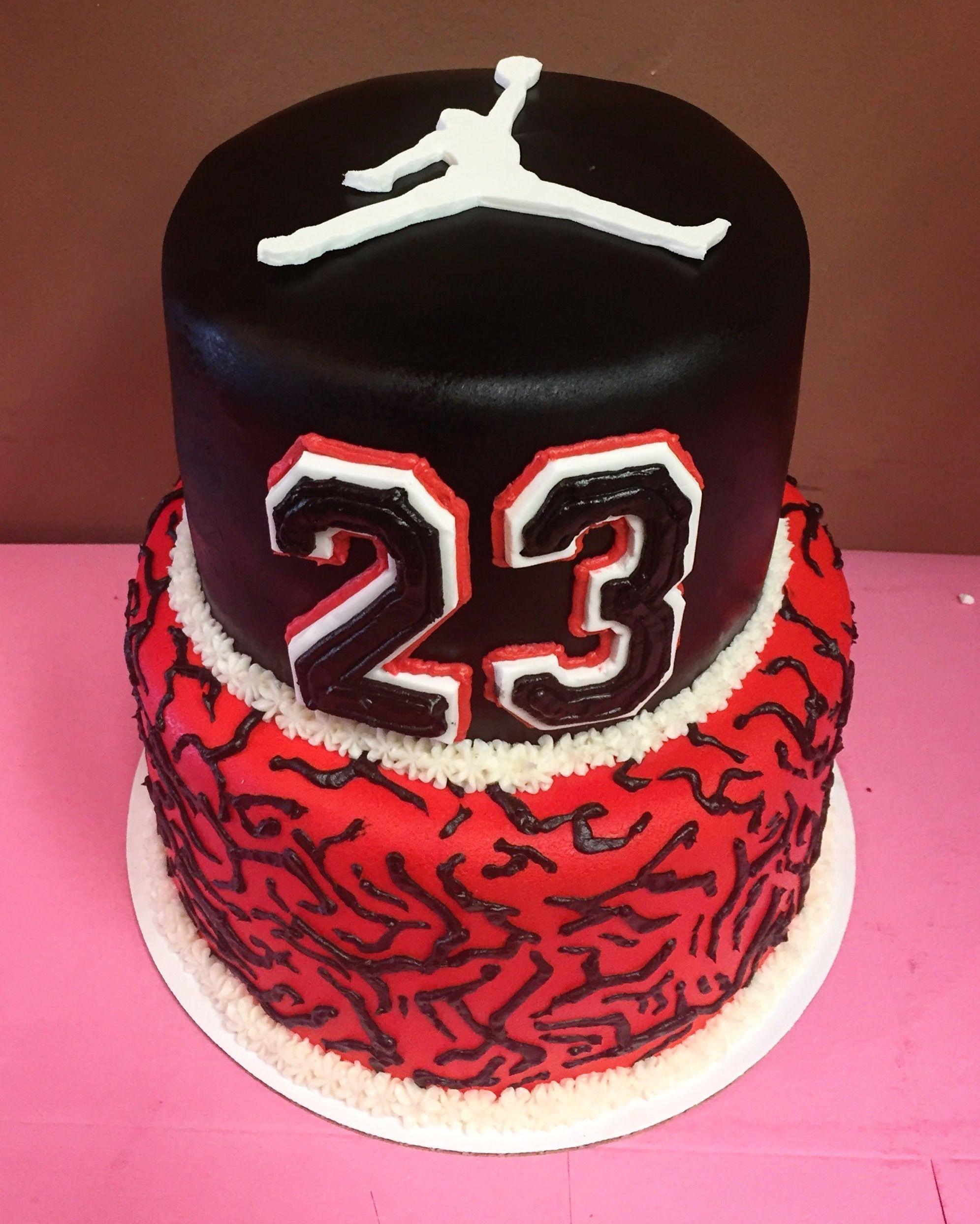 Cool Michael Jordan Cake By Frostings Bake Shop Jordan Cake Funny Birthday Cards Online Elaedamsfinfo