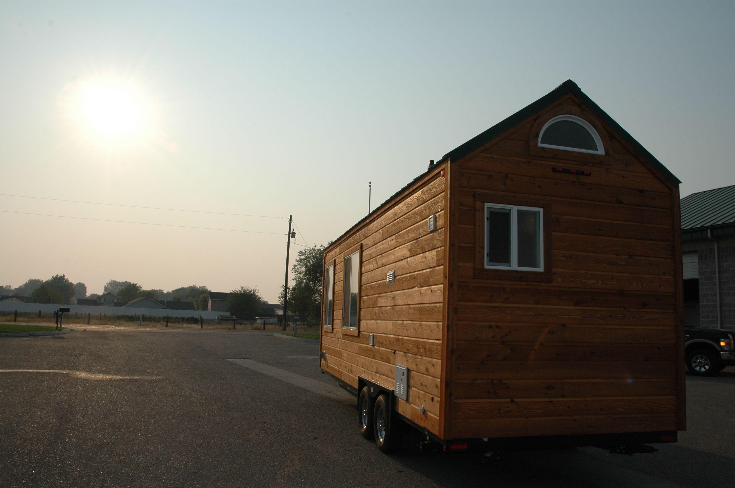 Beautiful Exterior Of Tiny Home On Wheel, Cedar Lap Siding