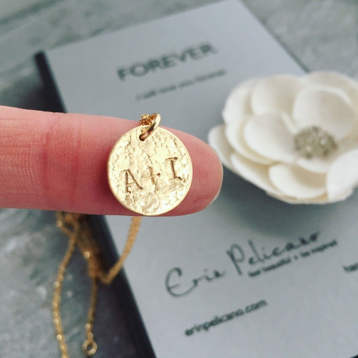 Gold Personalized Pendant Necklace Girlfriend