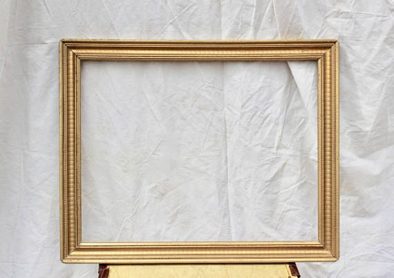 Large Ornate Carved Gold Wooden Frame 30 X 24 Wedding 2k18