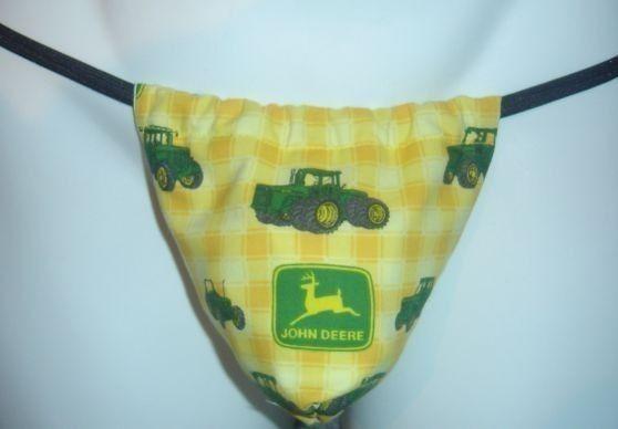 Mens JOHN DEERE G-String Thong Male Lingerie Tractor Underwear on