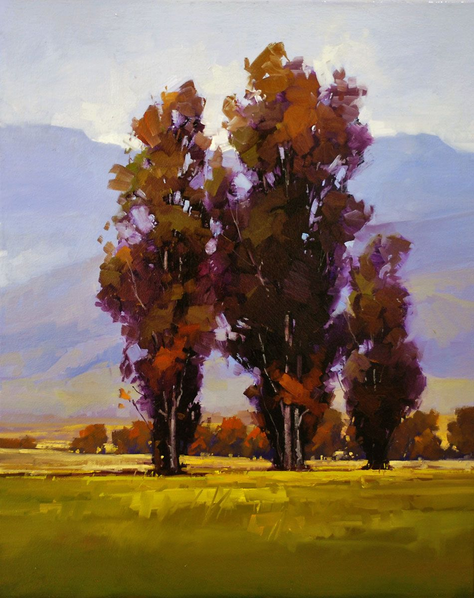 Gregory Stocks Eucalyptus Trio Oil On Canvas 30 X 24in 3200 Nature Paintings Tree Painting Oil Painting Trees