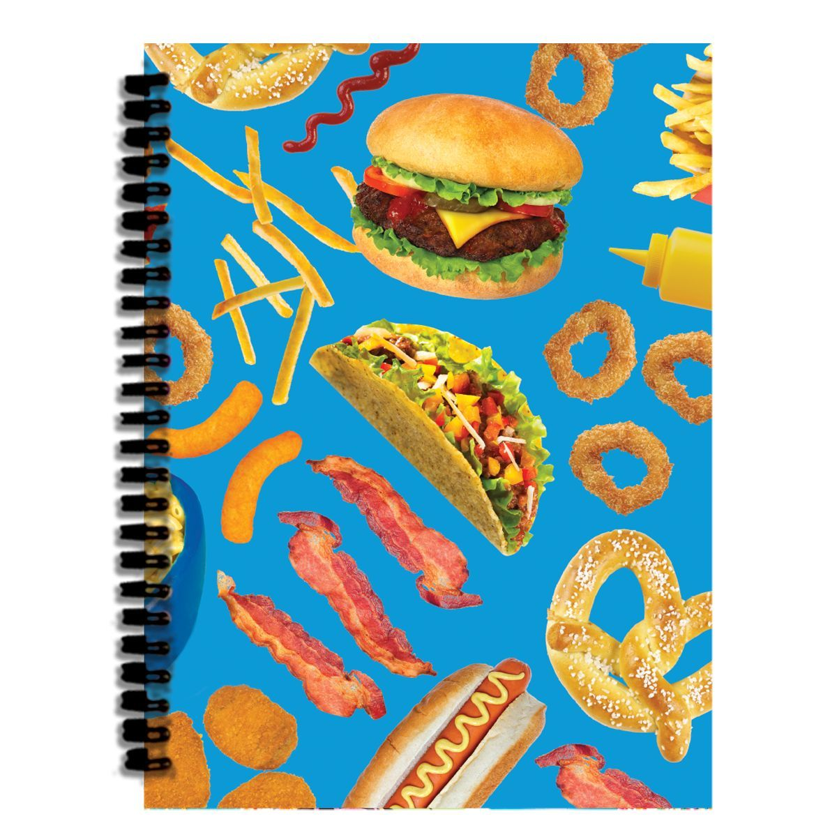 """3D front cover Back cover colorful coated stock 140 lined pages Coil bound 6 5/16"""" x 8 1/2""""                                                                                                                                                     More"""