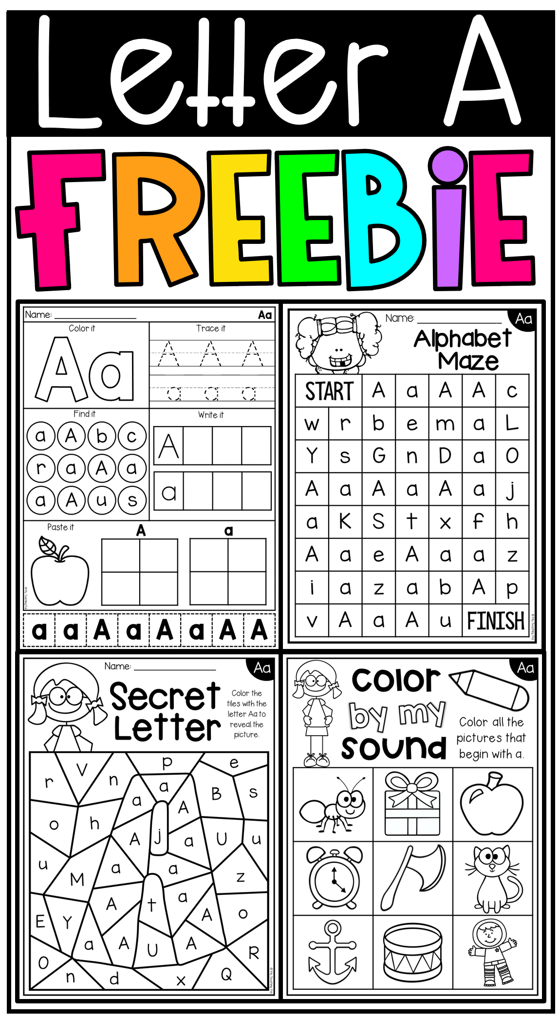 Free Letter A Alphabet Worksheets