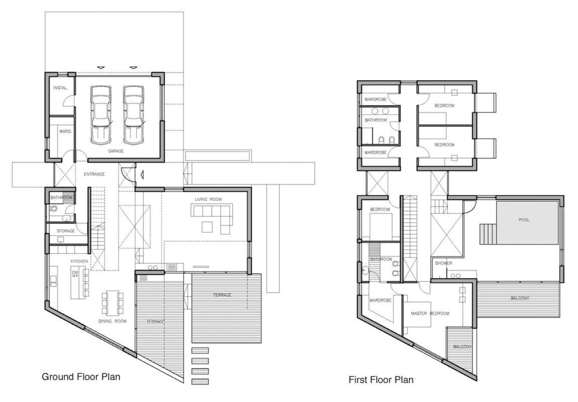 J20 House By Dar612 13 Minimalist Architecture House Design Simple Floor Plans