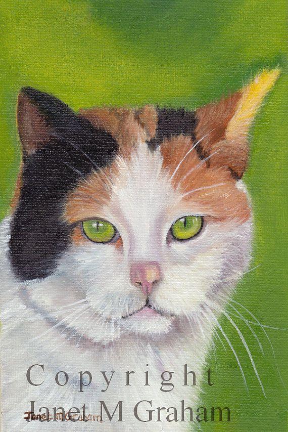 Cat Art Animal SFA Original hand painted animal by