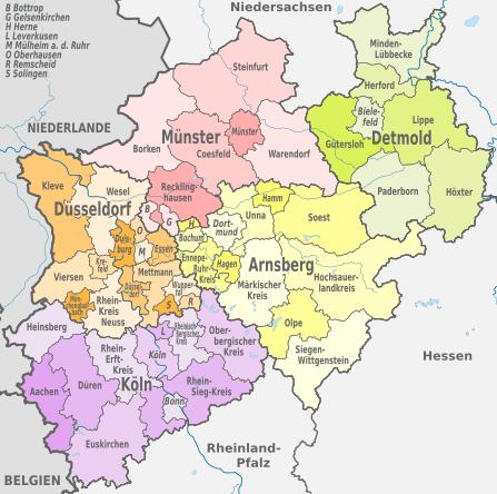 map of nordrhein westfalen germany Google Search Geneaolgy