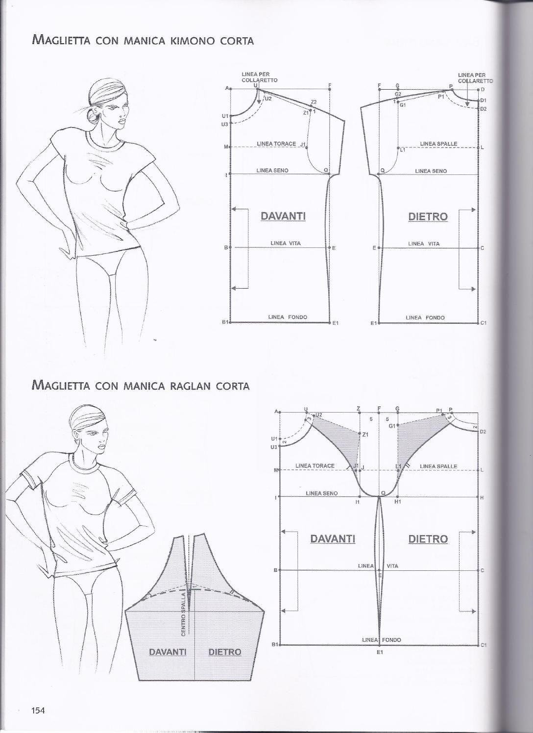 base kimono+raglan | Patronaje | Pinterest | Costura, Patrones y Ropa