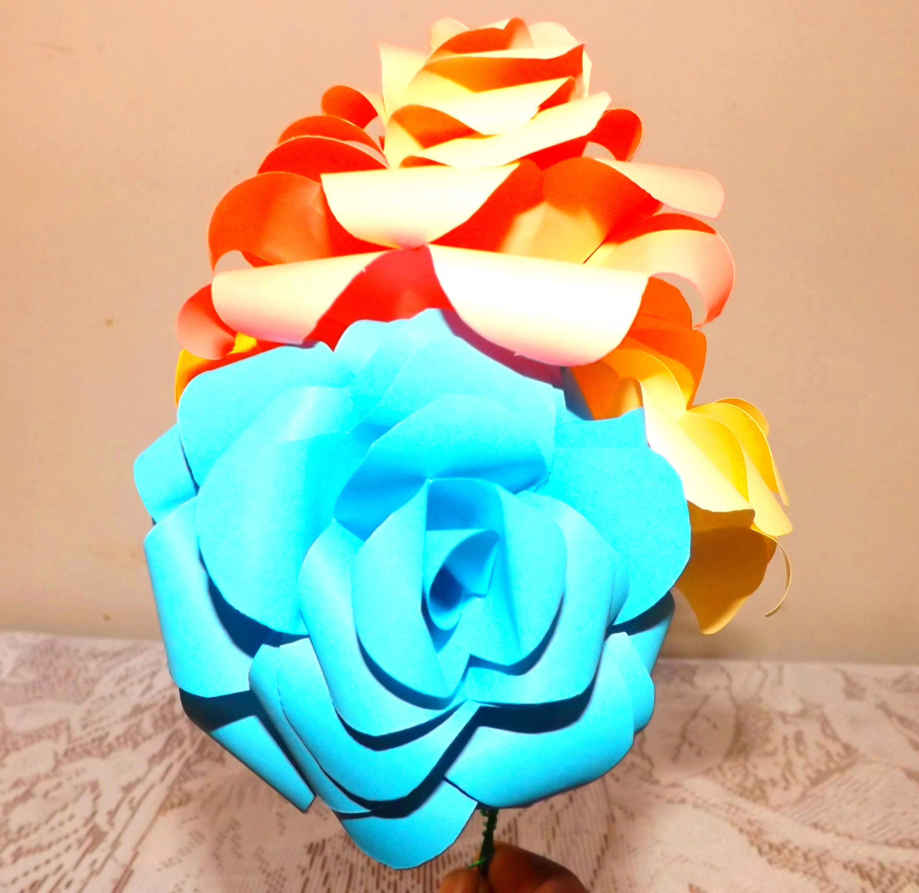 Paper flowers for bed roomroomhomeper flowers bouquet diy for