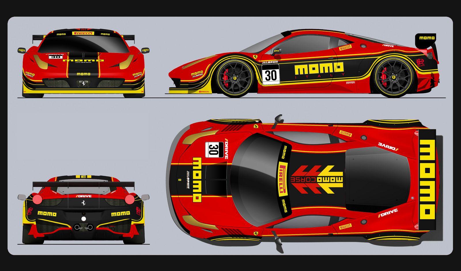 Ferrari 458 Momo Racing Entry 1 With Images Ferrari Racing