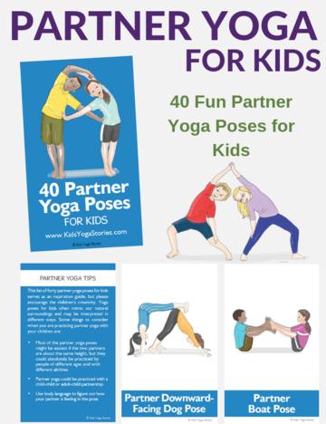 winter yoga cards for kids  yoga for kids partner yoga