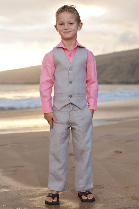 Boy\'s Custom Linen Suit | Linen suit, Beach weddings and Ring bearer