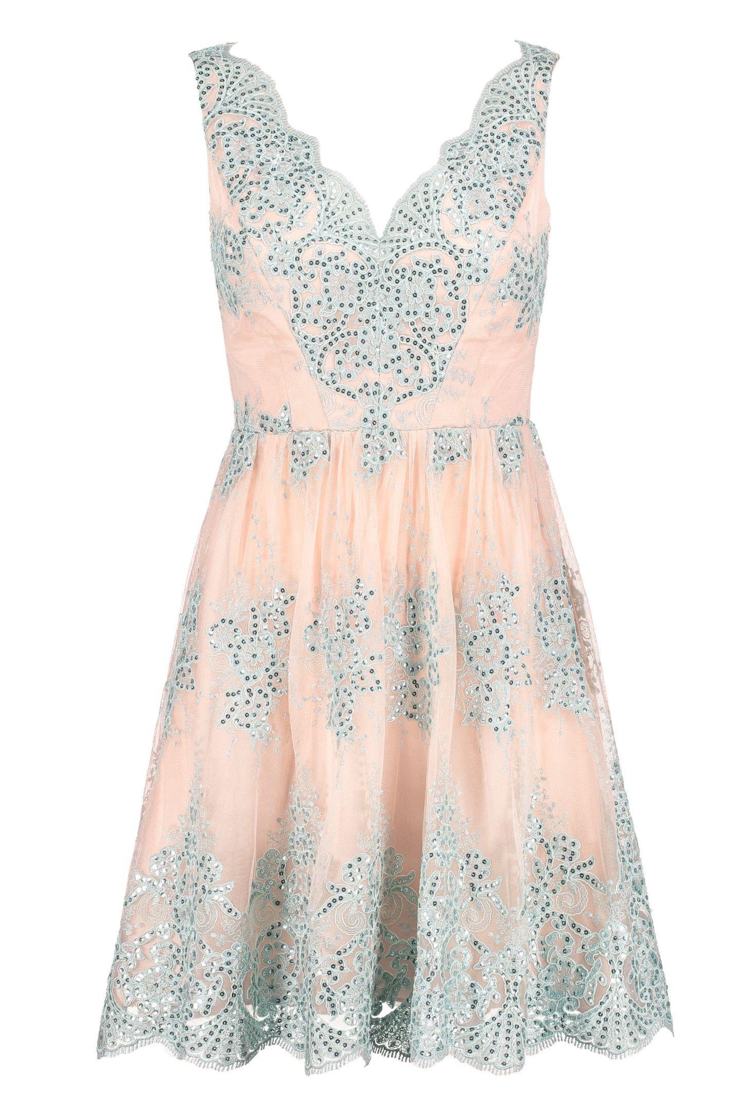Ausgefallenes Kleid mit Glitzer • Leichtes Cocktailkleid mit