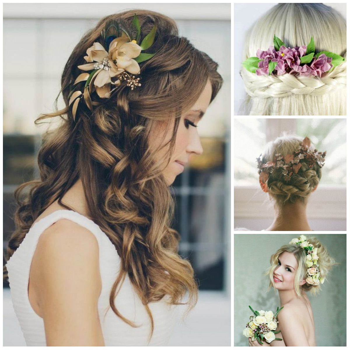 Flowers in the Hair Creating a Gentle Bridal Image