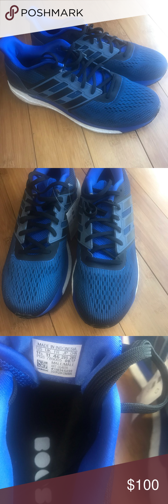 Adidas Mens Supernova Running Shoes Adidas Mens Supernova Running Shoes  size 11.5 new ships without box blue and black adidas Shoes Athletic Shoes 44d98f469