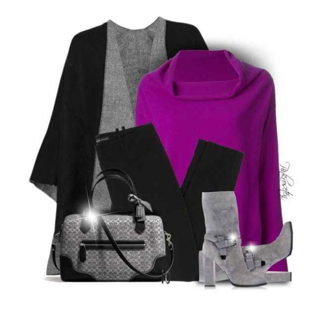 All Neutrals + Colored Sweater by pinkroseten