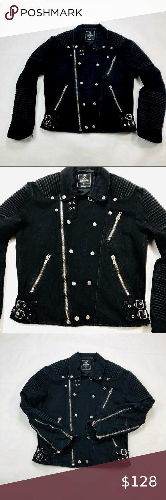 Men S Hudson Biker Jacket Size Xl Hudson Outerwear 100 Authentic Mens Biker Zip Jacket Black Size Xl Zipper On Biker Jacket Black Denim Jacket Hudson Denim [ 1740 x 580 Pixel ]
