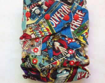 One Size Fitted Hybrid Marvel Super Heroes Diaper