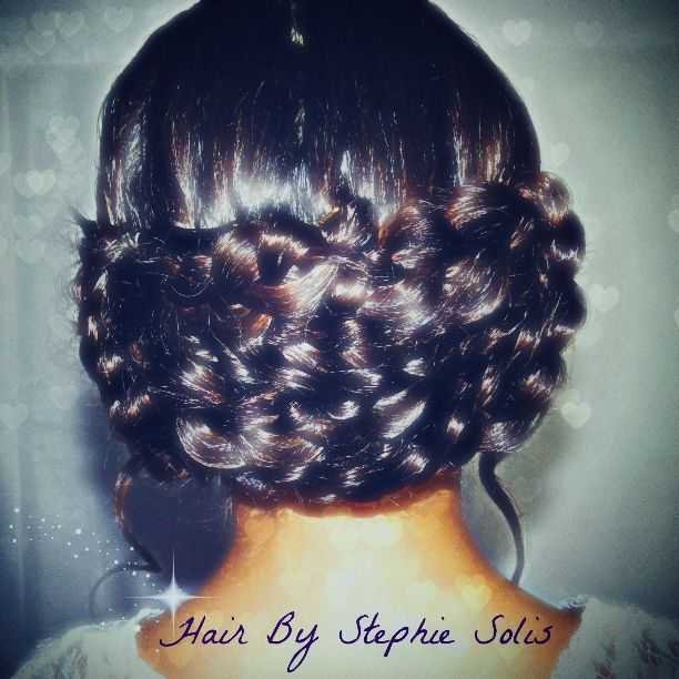 Braided updo done by me  #StephieSolis