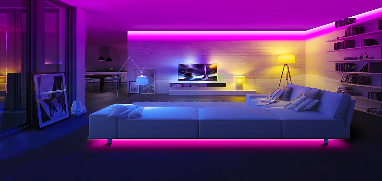 Eclipse Led Waterproof Smart Led Light Strips With Wifi Bed With Led Lights Led Strip Lights Bedroom Strip Lighting