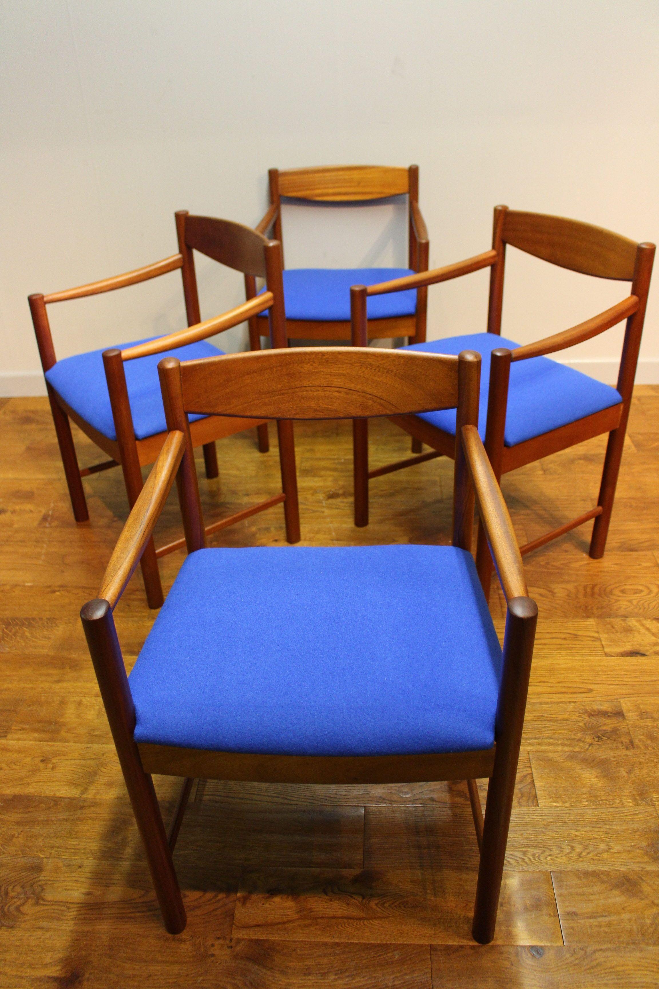 Set of 4 refurbished McIntosh Glenmora teak dining chairs