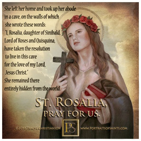 Image result for Pictures of Saint Rosalia