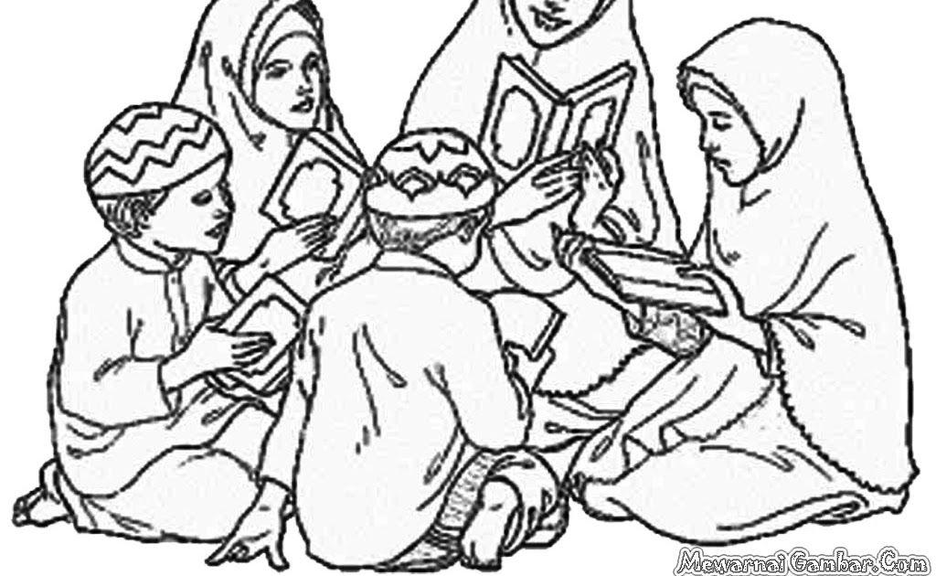30 Gambar Kartun Anak Muslim Untuk Diwarnai Di 2020 Dengan