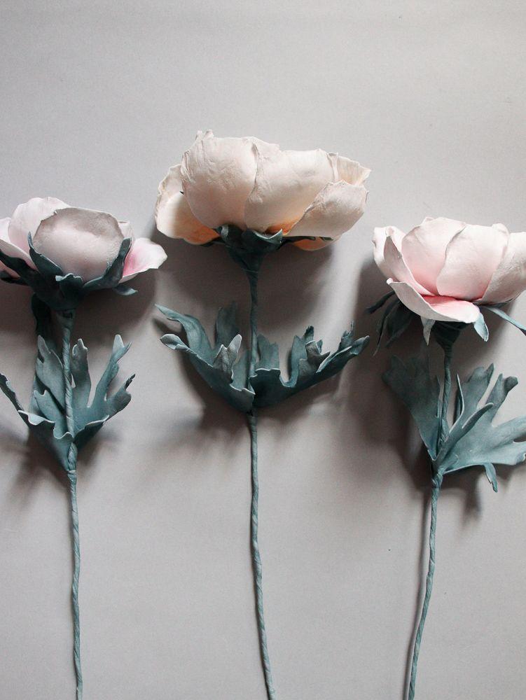 Kwiat Z Foamiranu Jedwabnego Anemon Artificial Flowers Girlfriend Gifts Anemone
