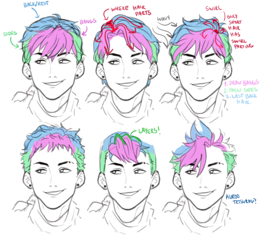 hairstyles drawing male drawings