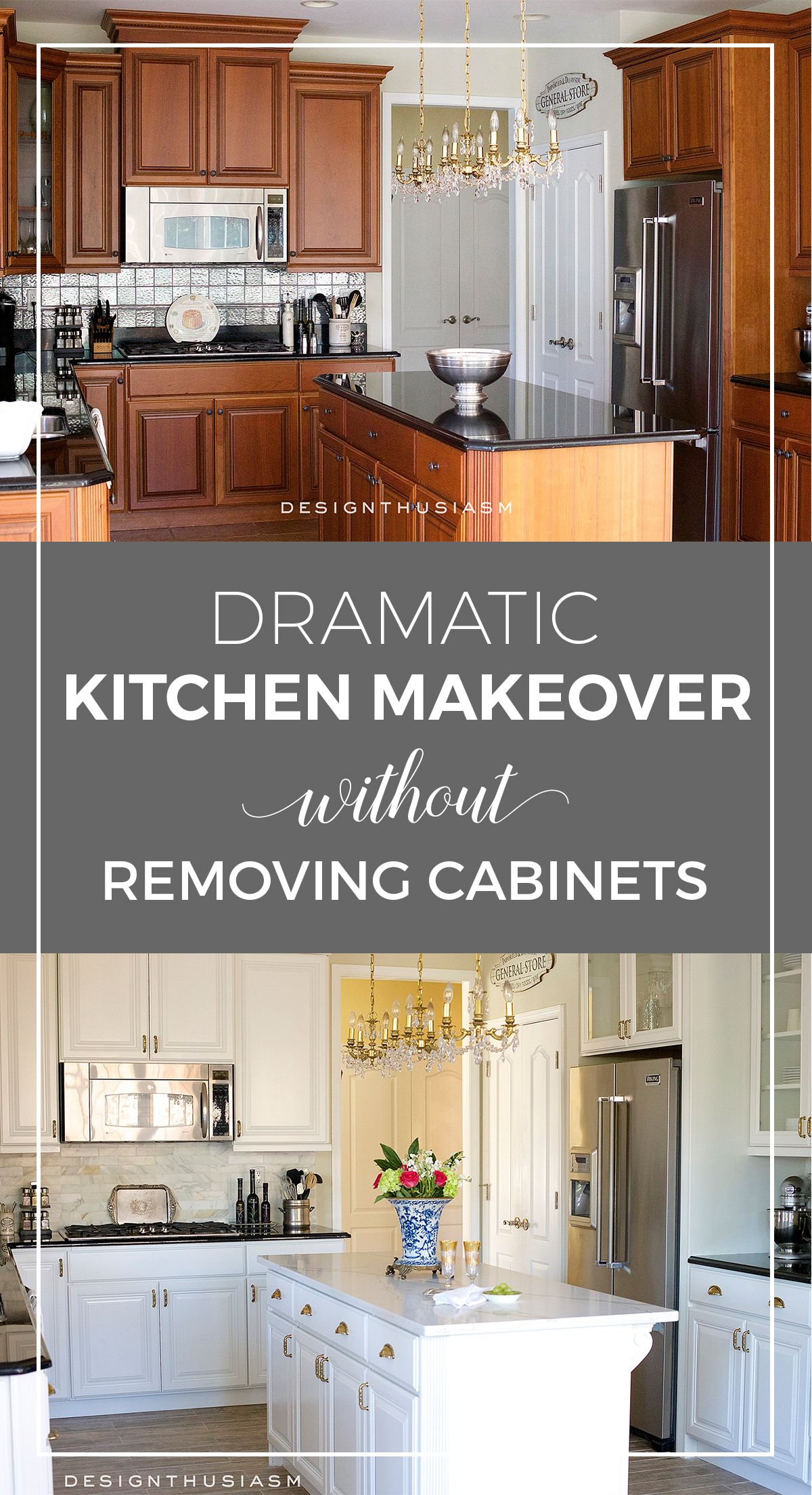 New Kitchen Dramatic Kitchen Renovation Without Removing Cabinets Budget Kitchen Remodel Refacing Kitchen Cabinets Kitchen Diy Makeover