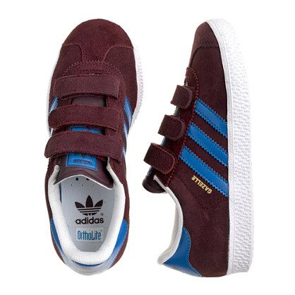 Kids\u0027 junior Adidas� gazelle sneakers in burgundy CrewCuts