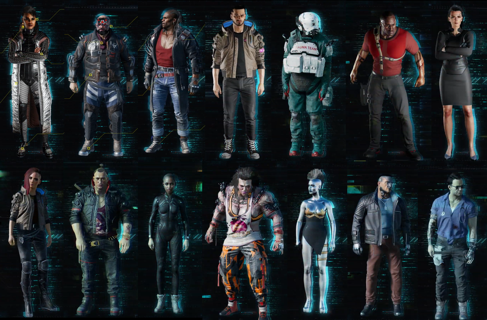 All the characters from the cosplay contest video