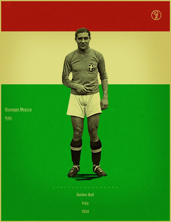 World Cup History Of The Golden Ball By Jon Rogers Via Behance World Cup Retro Style Posters World Football