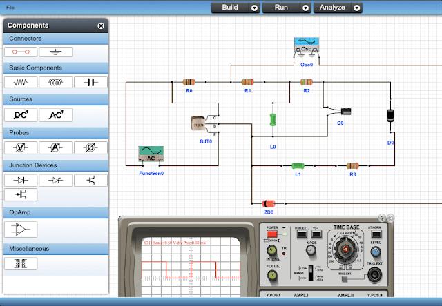5 Programas Para La Simulacion De Circuitos Electronicos Online Full Aprendizaje Circuito Electronico Electronica Ingeniero Electronico