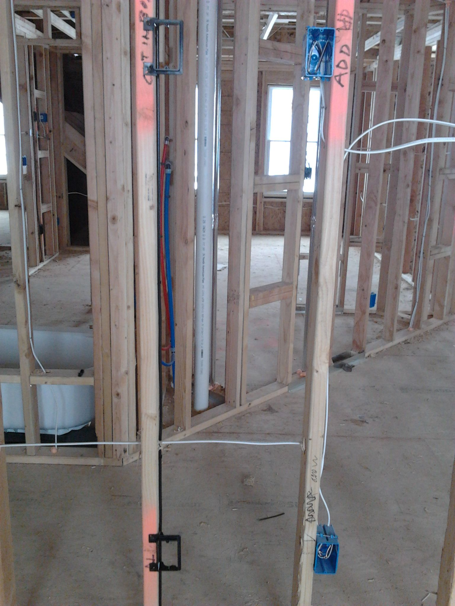 Trunk Line With Attic To Basement Conduit Low Voltage Pre Wire Wiring Pinterest Tv Wall Installation And Plasma