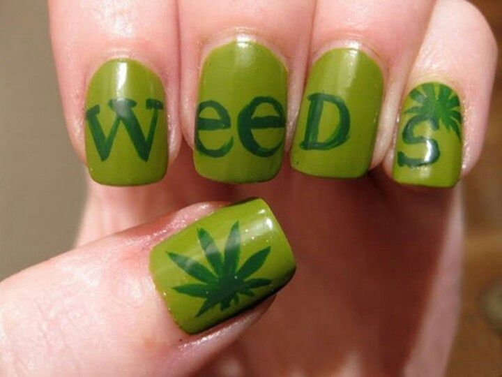 God i miss this show weeds nail design fun nails weeds nail design prinsesfo Image collections