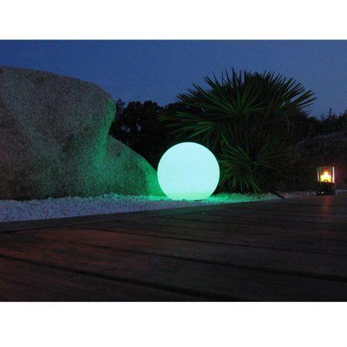 Sphère lumineuse 60 cm multi à LEDStélécommande LUMISKY    www - cube lumineux solaire exterieur
