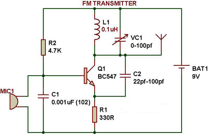 FMTransmitterCircuit is used to transmit noisefree FM