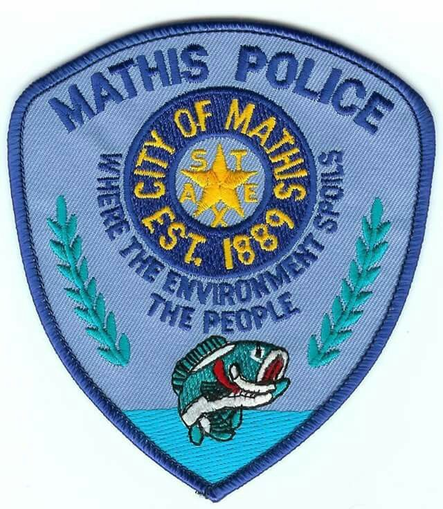 Mathis Pd Tx Texas Police Police Police Badge