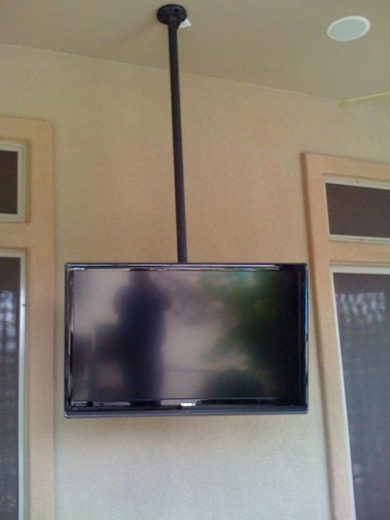 Ceiling Mounted Tv With Images Wall