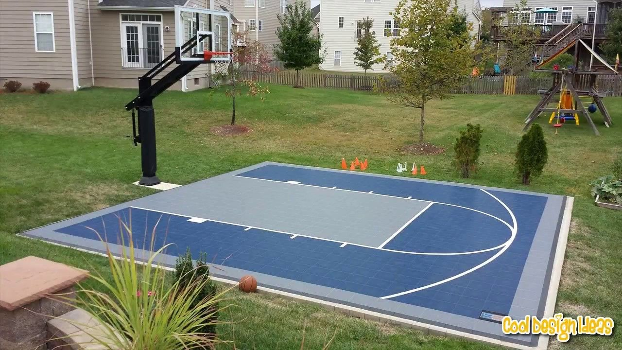 22 Genius Concepts Of How To Makeover Backyard Sport Court Ideas Simphome Basketball Court Backyard Backyard Basketball Home Basketball Court