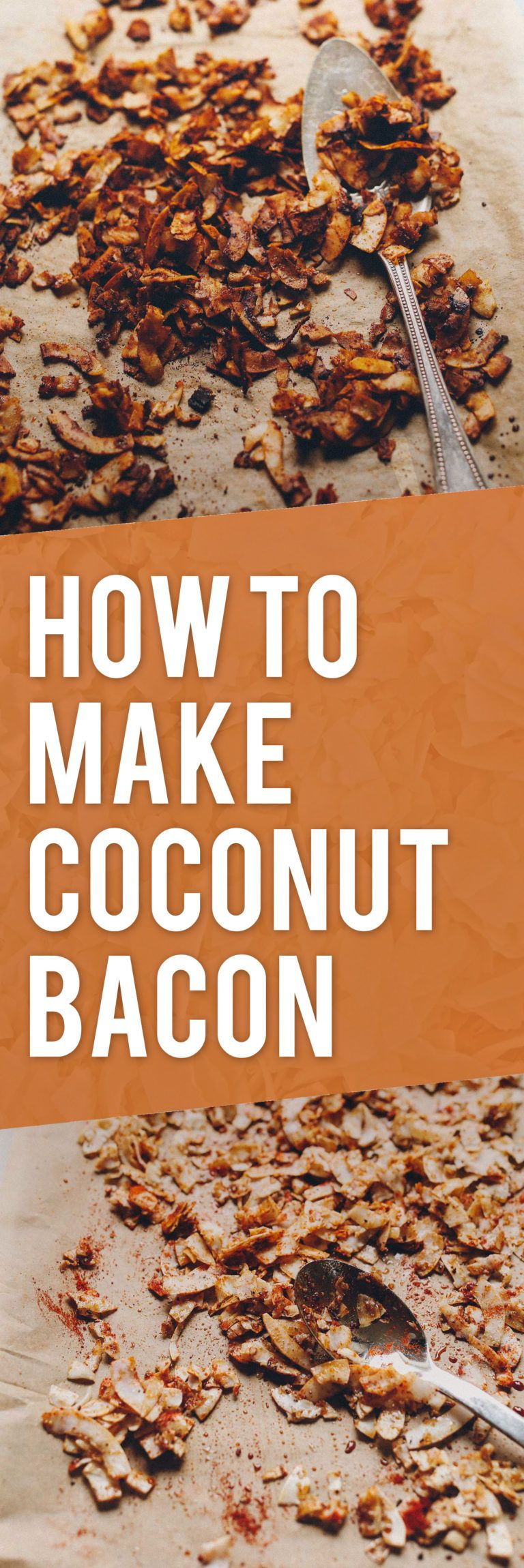 HOW TO MAKE Coconut Bacon! 15 minutes, quick, easy, flavorful!