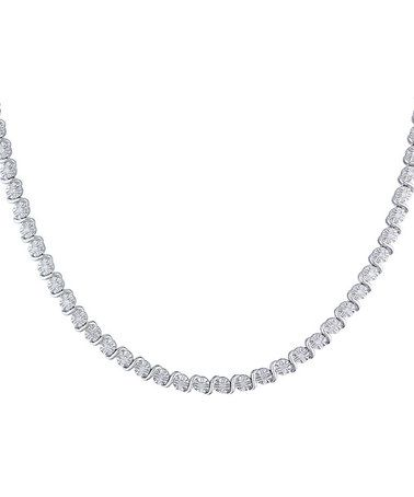 Look what I found on #zulily! Diamond & Sterling Silver Studded Necklace #zulilyfinds