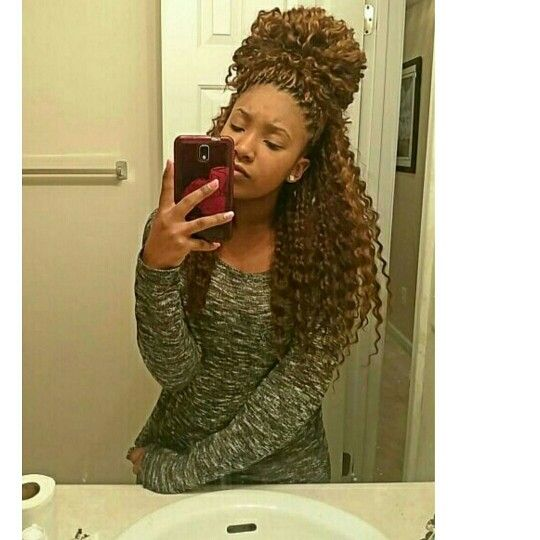 Crochet Braids Featress Hair Brown And Blonde Curly Wavy