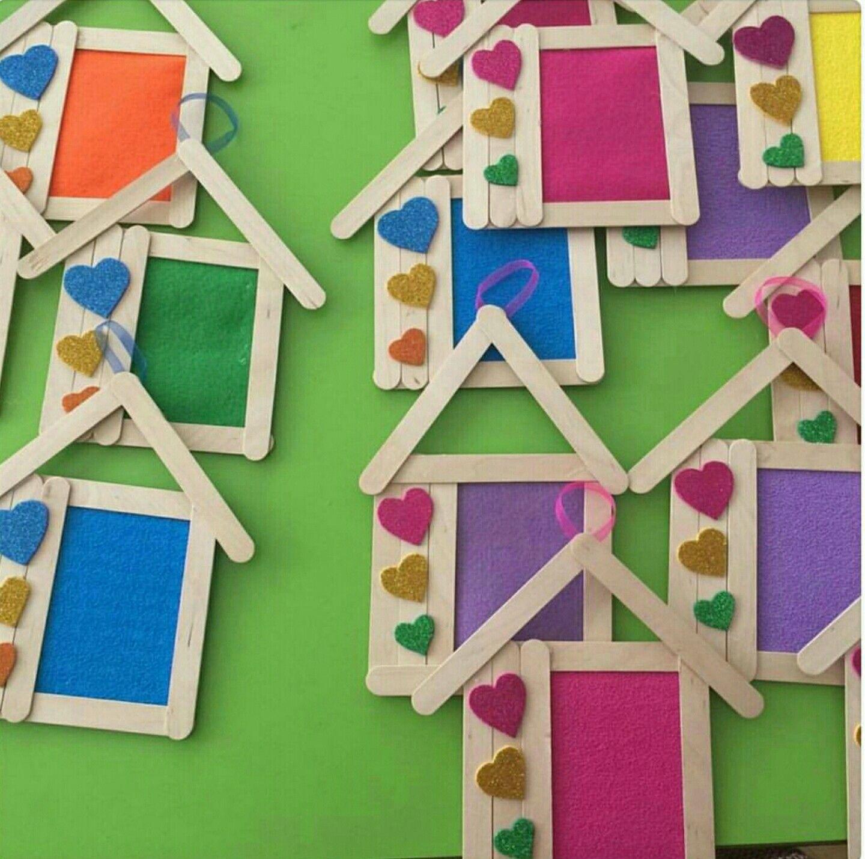 Popsicle Stick Crafts, Popsicle Sticks, Handicraft Ideas, Craft Sticks, Diy